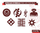 African Symbols Free Vector Pack