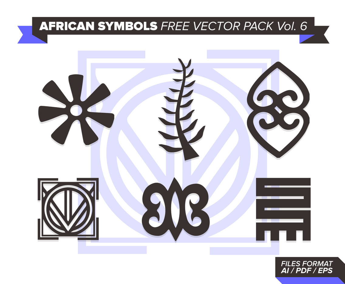 African Symbols Free Vector Pack Vol. 6