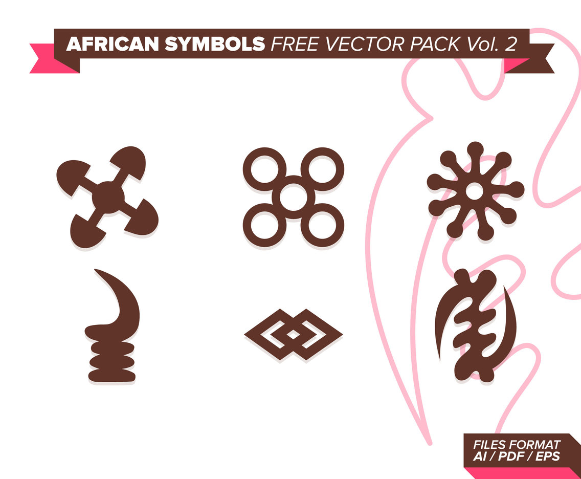 African Symbols Free Vector Pack Vol. 2