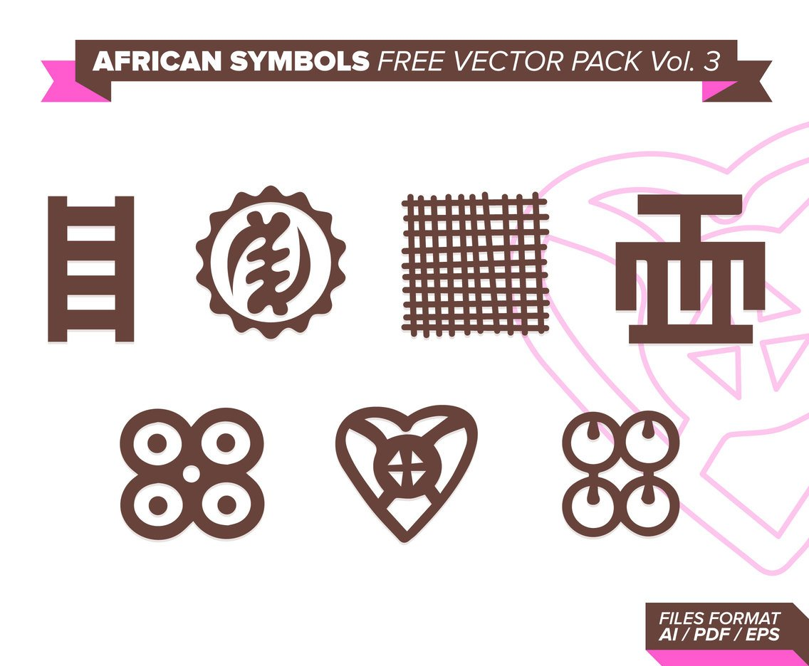 African Symbols Free Vector Pack Vol. 3