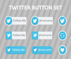Twitter Bird Follow Me Vector Buttons