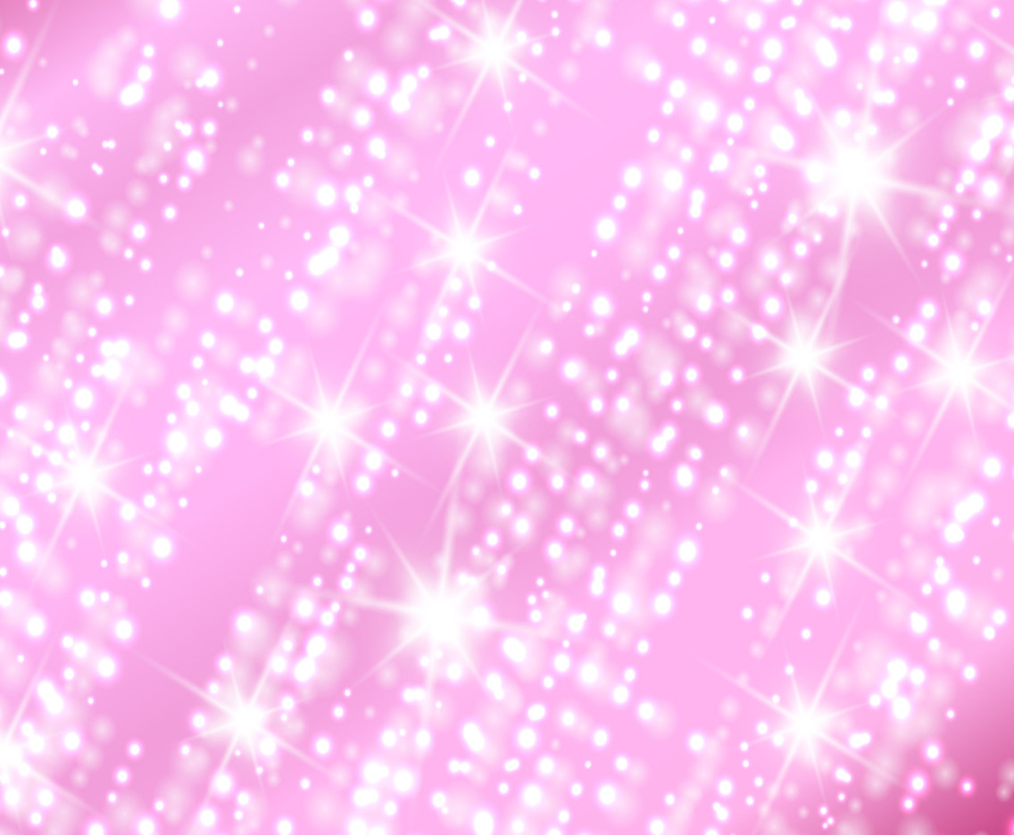Vector Pink Sparkles Background With Glow Stars