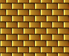 Golden Brick Wall Vector Background