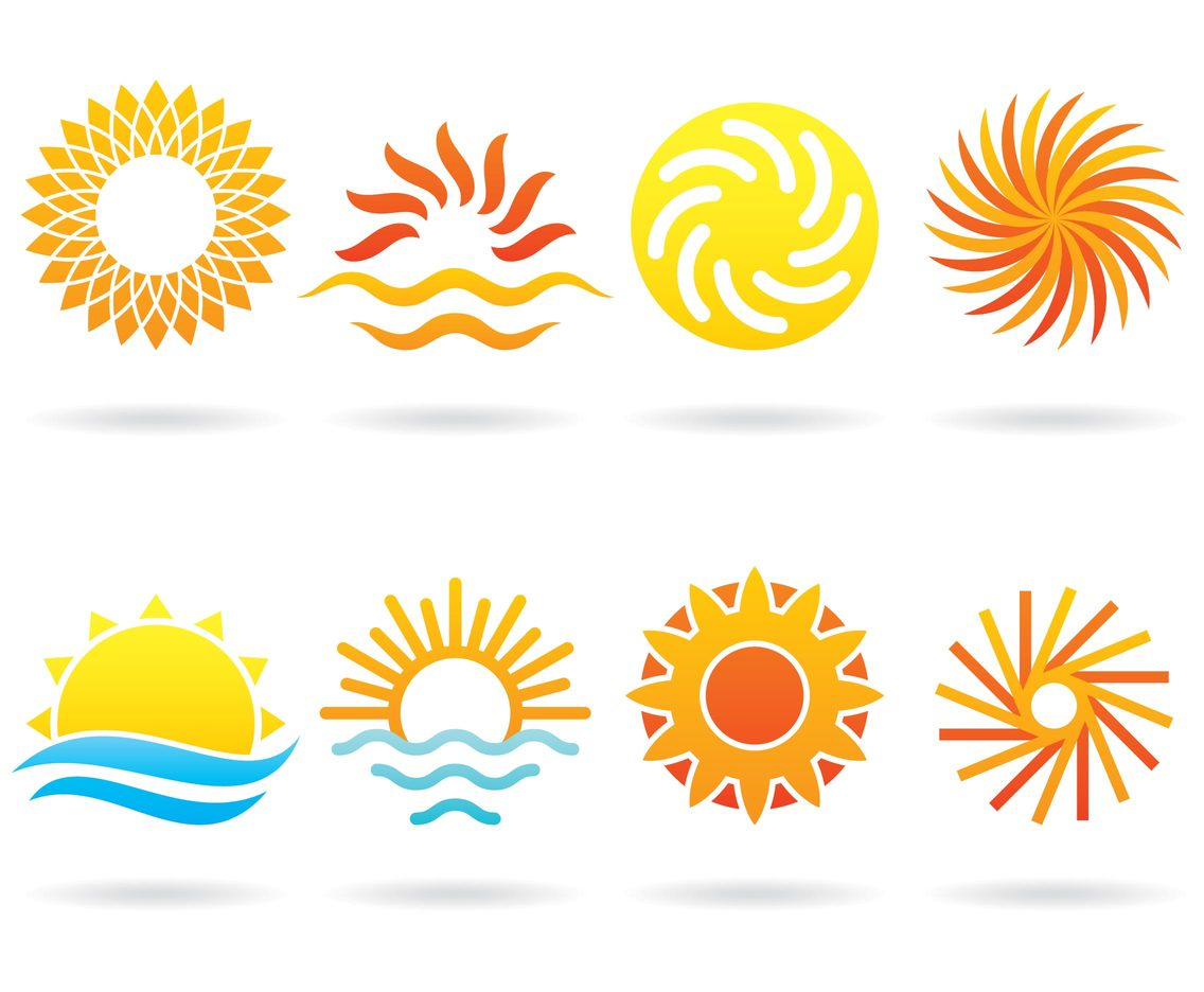sun logos vector art amp graphics freevectorcom