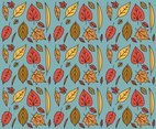 Leafy Fall Background Vector
