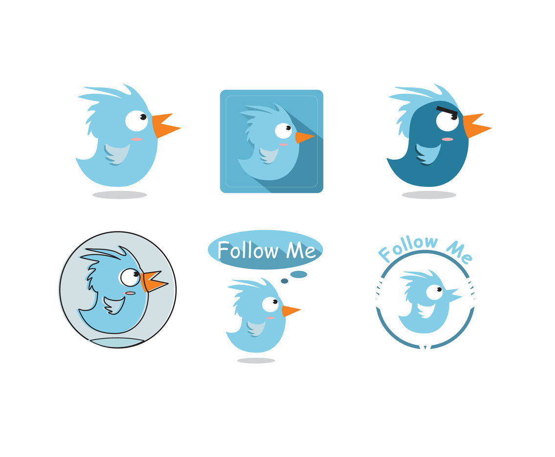 Adorable Twitter Bird Vector