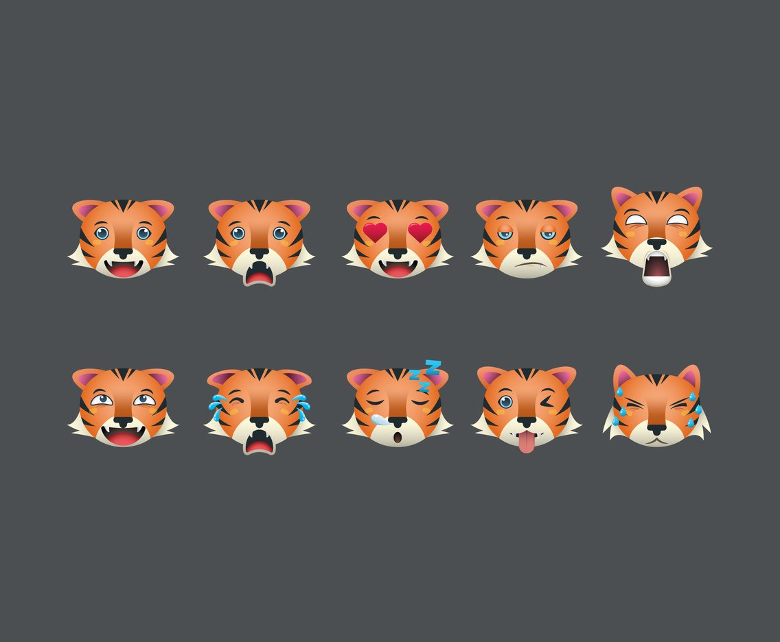 Free Cartoon Tiger Vectors