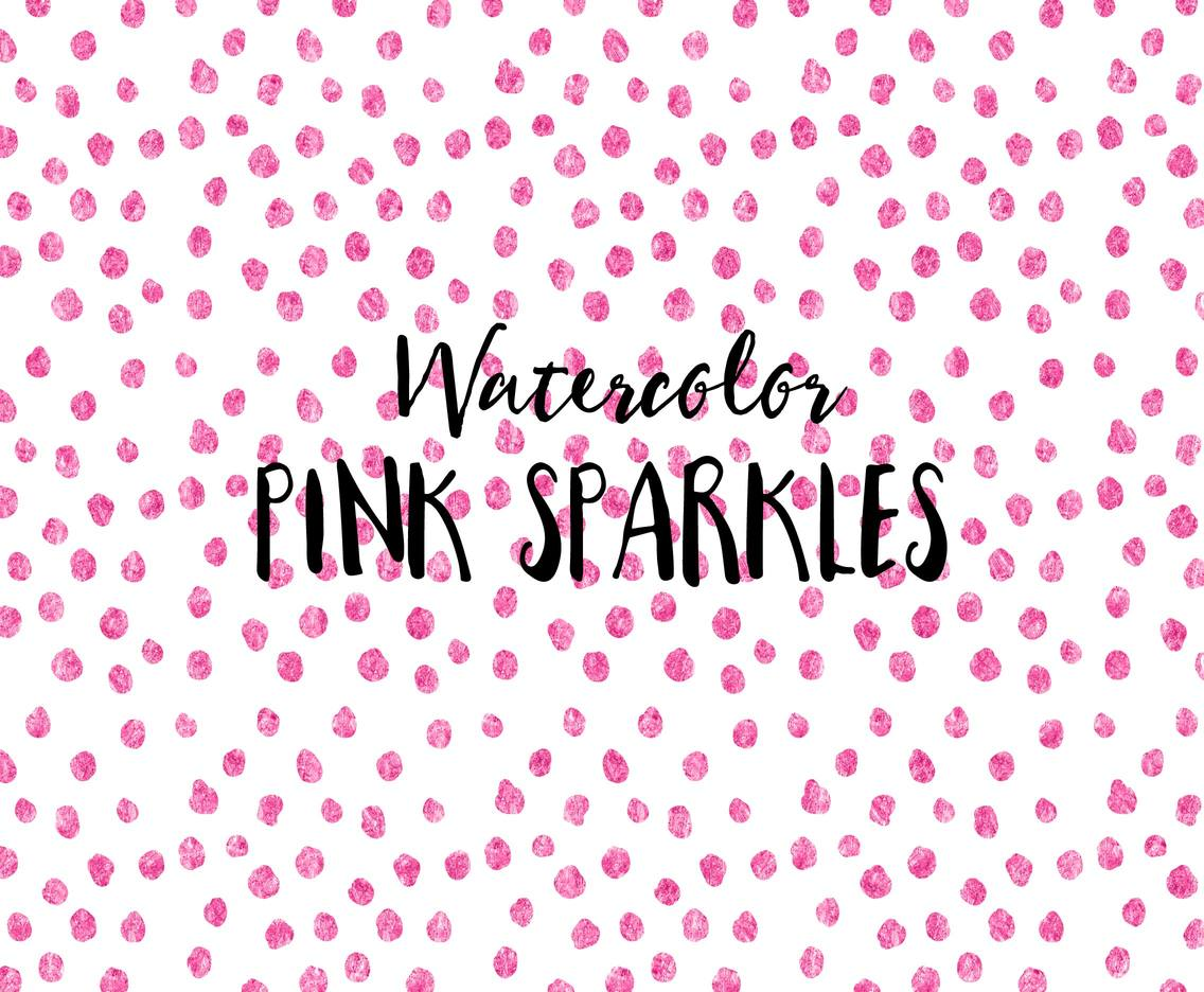 Free Vector Pink Watercolor Sparkles