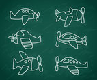 Cartoon Plane Doodle Vector