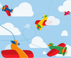Free Cartoon Airplane Vector