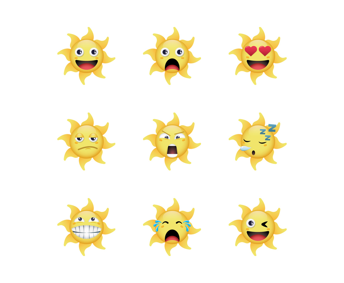 Free Cartoon Sun Vectors