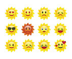 Free Cartoon Sun Emoticons