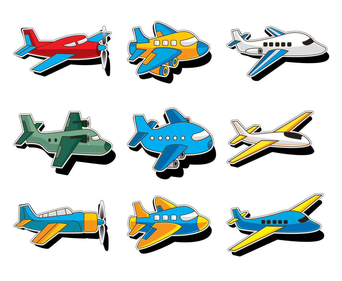 Illustration of the Cartoon Airplane