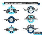 Cartoon Airplane Free Vector Pack