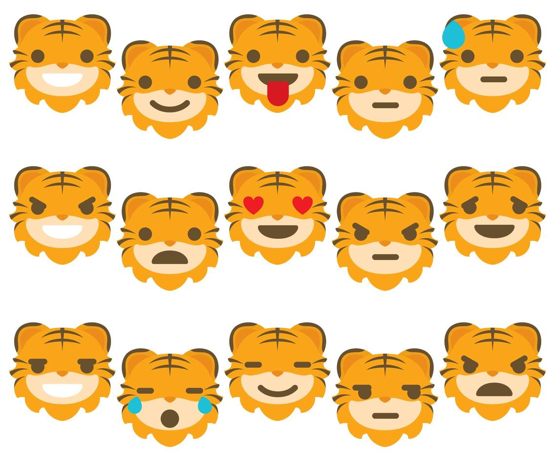 Tiger Emoticons
