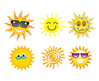 Free Cartoon Sun Vector