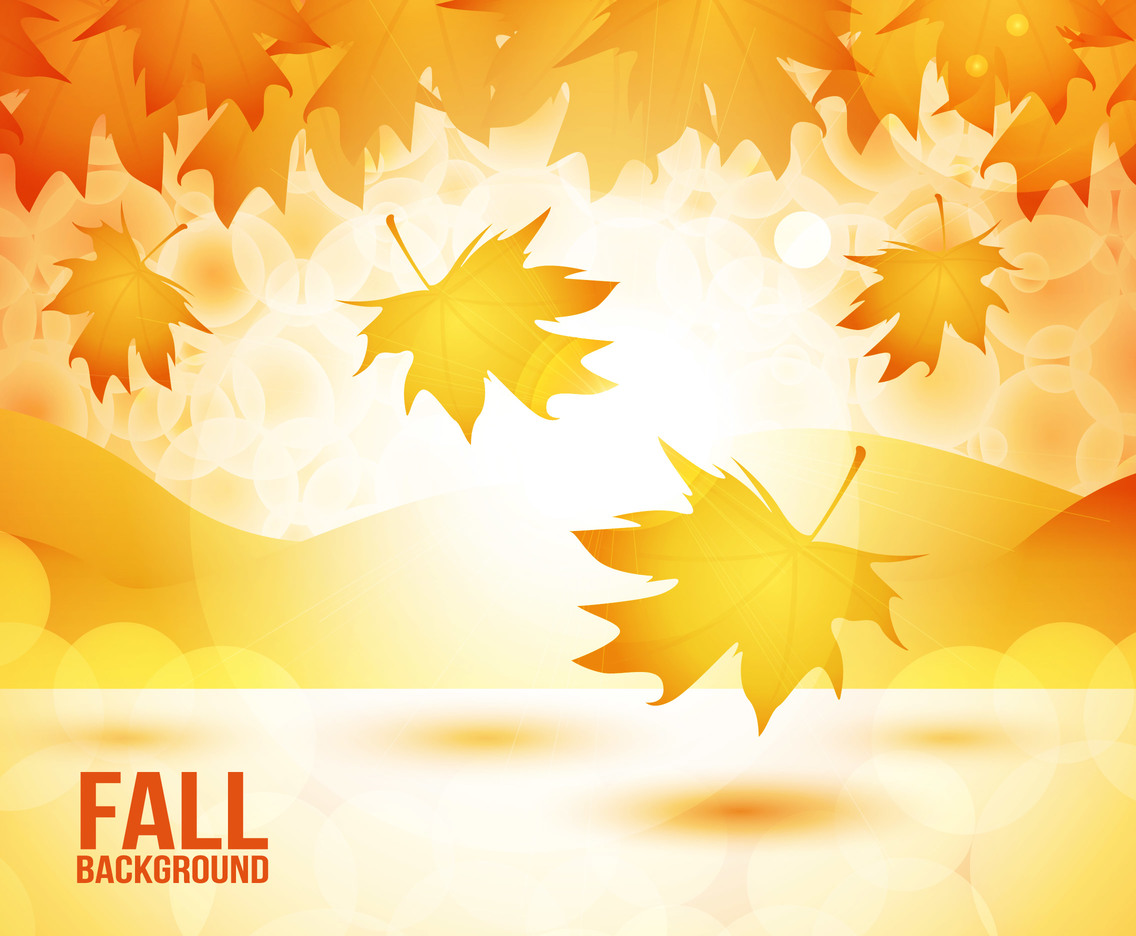 Fall Autumn Background Vector