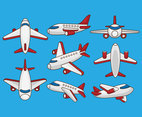 Free Cartoon Airplane Vectors