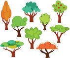 Free Cartoon Trees Vectors