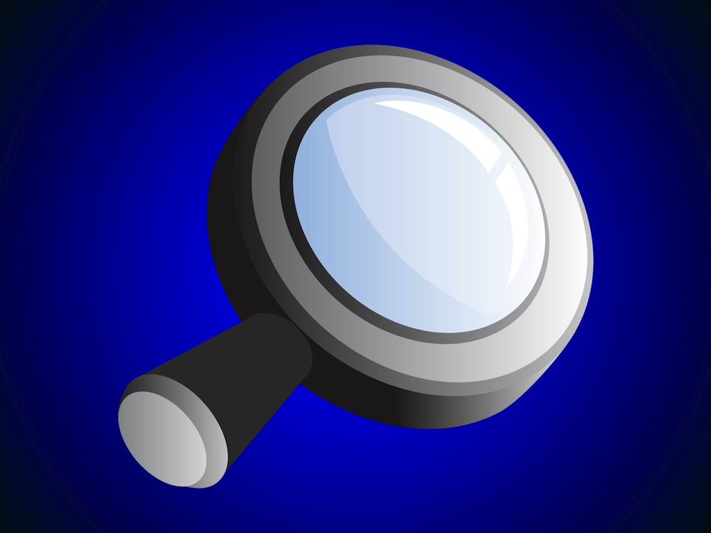 Shiny Magnifying Glass