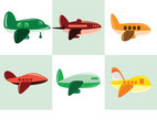 Cute Cartoon Airplane Vector