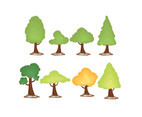 Cartoon Tree Vector Set