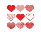 Heart Icon Vector Set