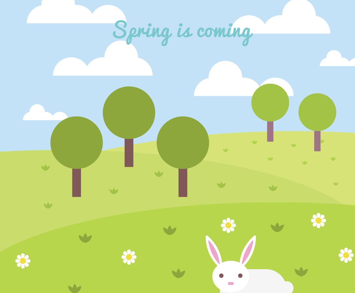 Spring Is Coming Vector Art & Graphics | freevector.com