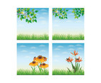 Spring Landscape Vector Background
