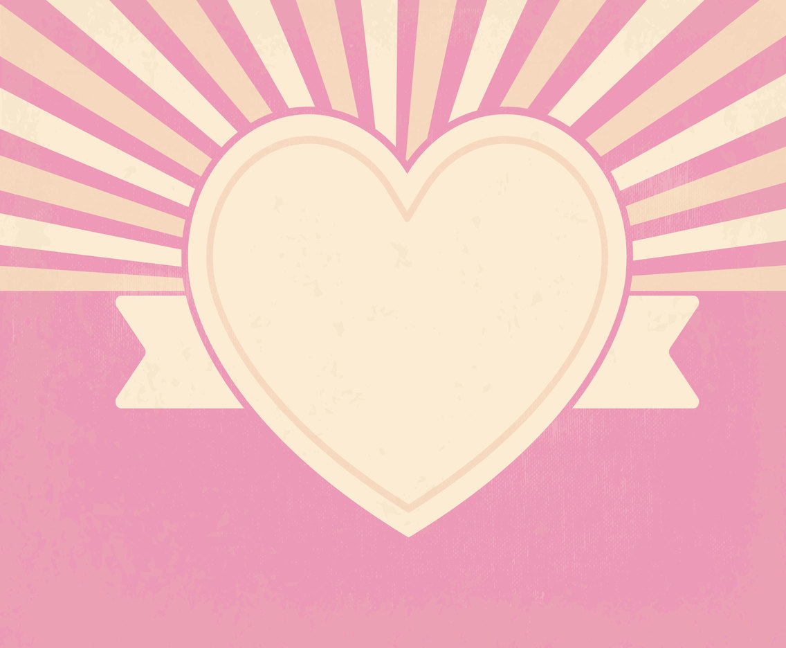 Cute Retro Style Heart Background