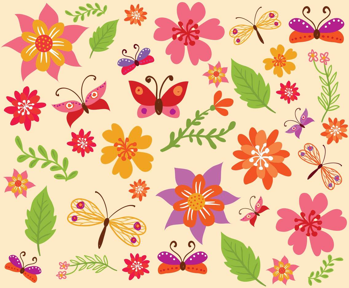 Free Spring Background Vectors
