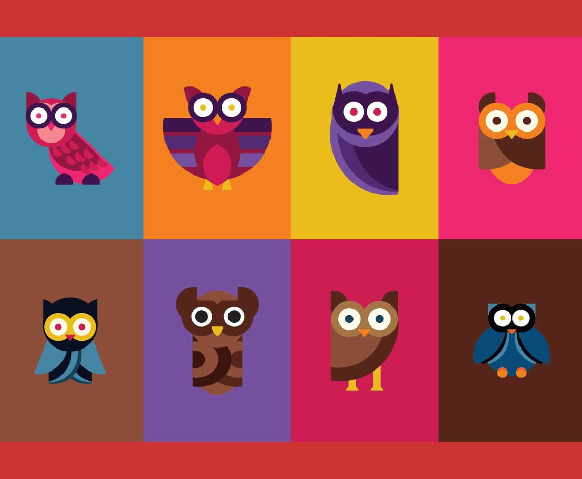 Free Cartoon Owl Vectors