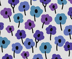 Purple and Blue Floral Background Vector