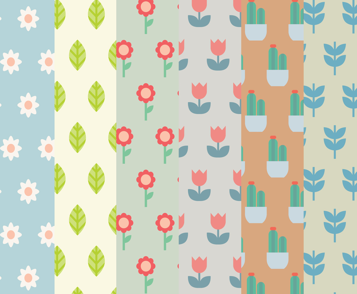 Floral Pack Pattern Vectors