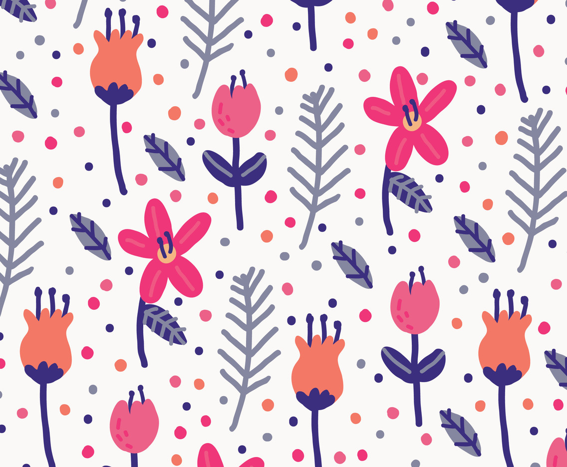 Colorful Floral Background Vector Pattern