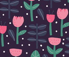 Dark Floral Background Vector