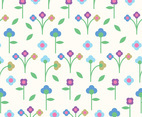 Beautiful Flat Floral Background Vector