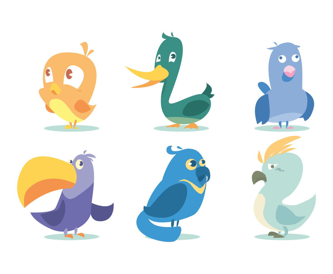 Twitter Bird Vector Set