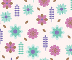 Green and Pink Floral Background Vector