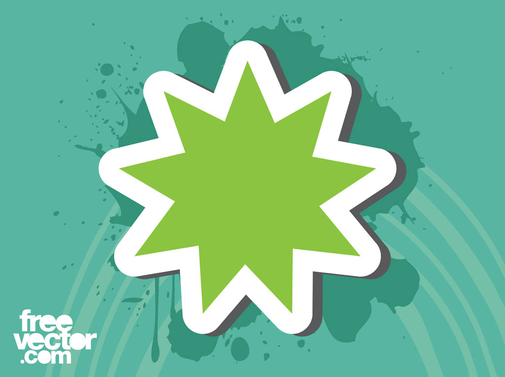 Green Star Sticker