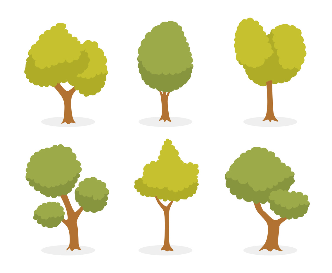 cartoon green tree vector vector art graphics freevector com rh freevector com vector trees png vector trees illustrator