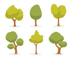 Cartoon Green Tree Vector