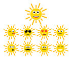 Cartoon Sun Vector 3
