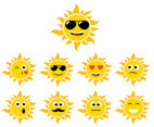 Cartoon Sun Vector 4