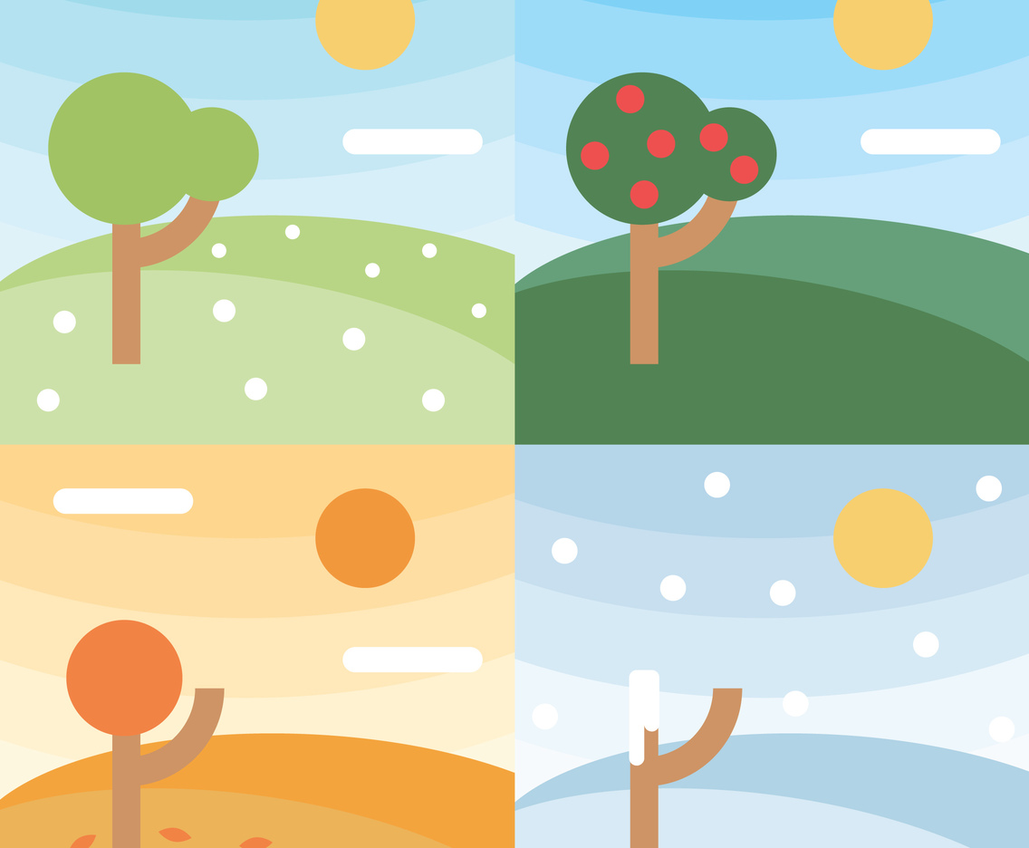 Vector Four Seasons Backgrounds