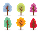 Colorful Cartoon Tree Vector