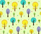 Free Vector Cartoon Tree Pattern