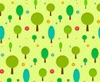 Cartoon trees pattern