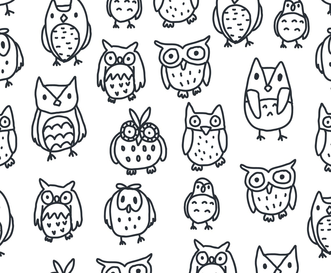 black and white owl pattern vector vector art amp graphics