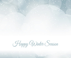 Blurred Winter Snow Background